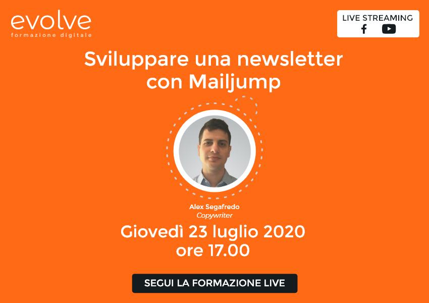 Evolve in streaming: sviluppare una newsletter con Mailjump