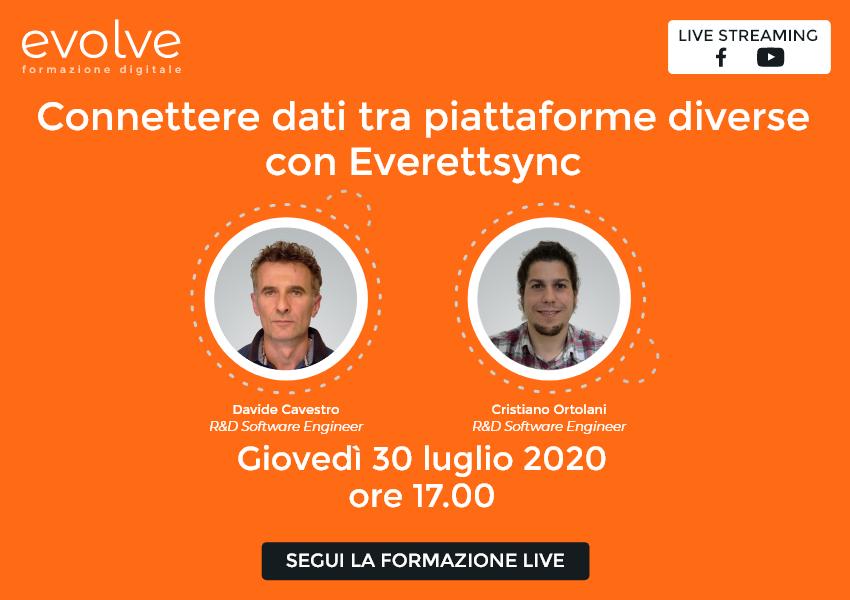 Evolve in streaming: connettere dati tra piattaforme diverse con Everettsync